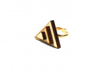 Ring wooden triangle