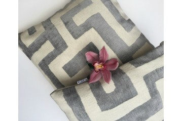 Cushion Cover Silk Velvet&Linen