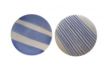 Ceramic saucers stripes