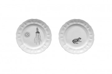Set of 2 Small Plates Mammiferi Esclusi - Mix 2