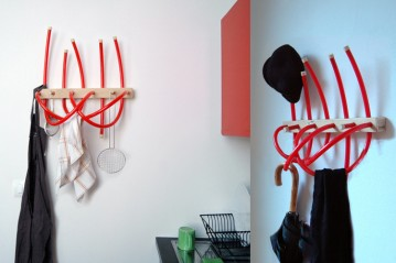 Bucatini coat hanger