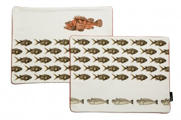 Set of 2 Placemats Mediterraneo Damselfishes
