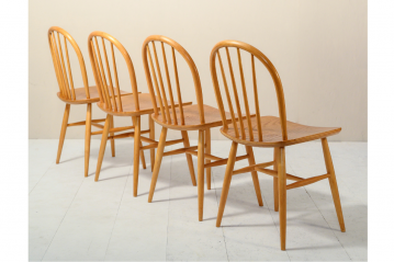 Set of 4 Original Pinnstolar Chairs - 1960'