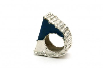 Blue inlay ring