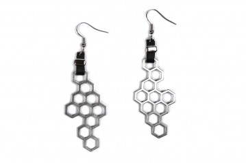 Earrings Hexagon