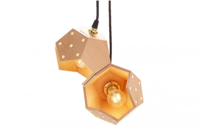 Suspension lamp Basic TWELVE DUO - wooden