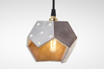 Suspension lamp Basic TWELVE DUO concrete