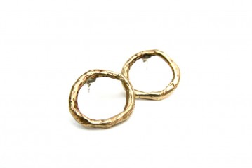 Bronze Empty Circle Earrings