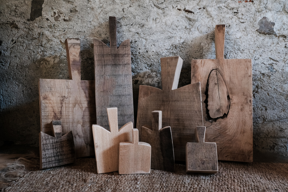 primordial shape, wooden serving boards